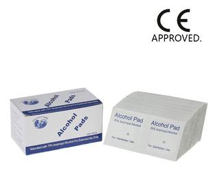 100pcs Disposición Alcohol Pads Desinfección Medio 2- Capa