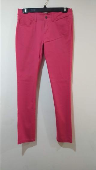 Pantalón Tipo Mezclilla Color Coral Talla M