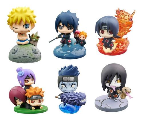 Naruto Set De 6 Figuras Detalladas Coleccionables Chibi