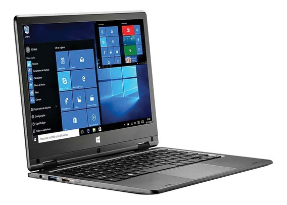 Notebook Multilaser 2 Em 1 M11w Plus Intel Celeron 2gb Cinza