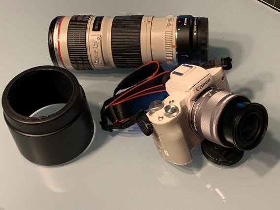 Canon Eos M 50 Mir +lente 15/45+lente 70/200 Impecavel