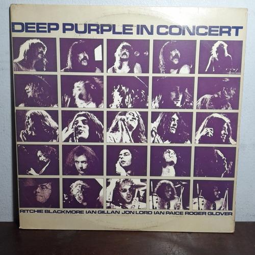 Imagem 1 de 9 de Vinil Lp Deep Pourple In Concert Álbum Duplo Capa Dupla