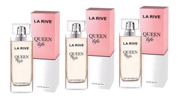 Kit De 3 Perfumes Queen Of Life La Rive Feminino