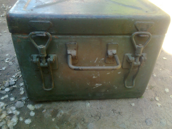 Caja Baul Militar Ejercito Chapa Portamunicion