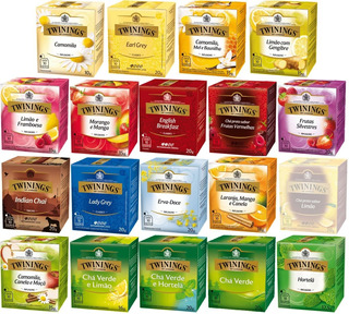 Twinings Of London Chá 19 Caixas Conjunto Com 190 Sachês