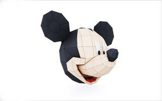 Mickey E Minnie- Papercraft Low Poly - Arquivo Imprimível