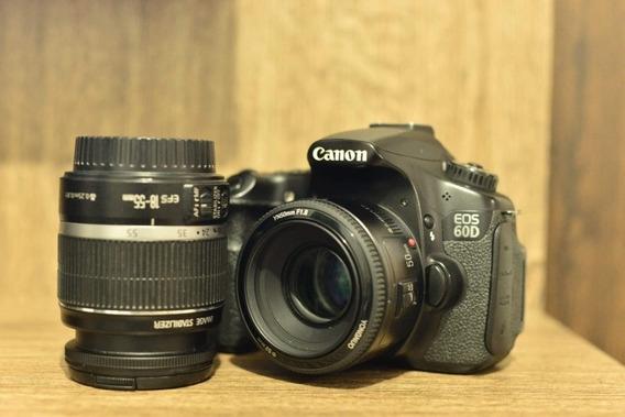 Canon 60d / Lente 50mm 1.8 E Uma 18-55