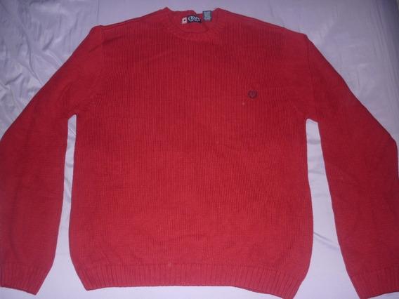 E Sweater Chaps Ralph Lauren Rojo Talle Xl Art 35117