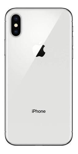 Imagen 1 de 5 de Celular Apple iPhone X 64gb Silver + Funda + Audifonos