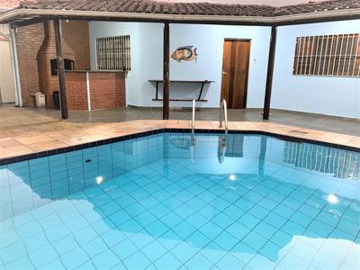 Casa Isolada Com 3 Dormitórios, 3 Suítes, 7 Vagas, Piscina - Canto Do Forte - Praia Grande - R3f332c - R3f332c - 33130601