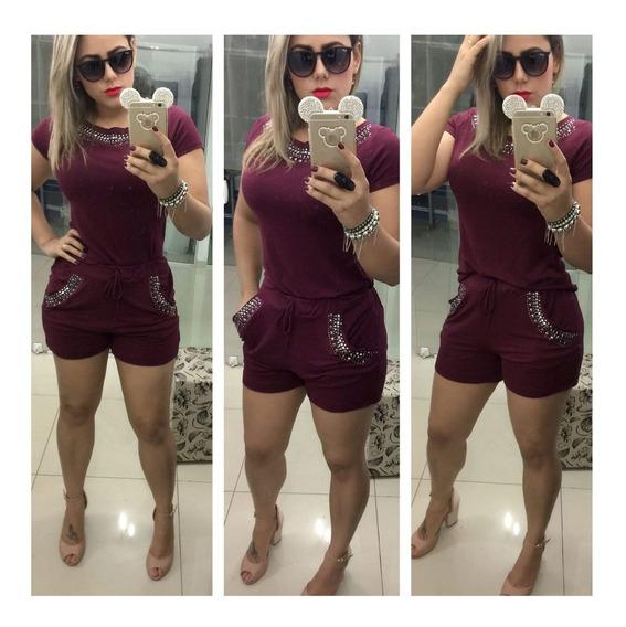 Conjunto Cropped + Shorts Pedras Lindas Pronta Entrega