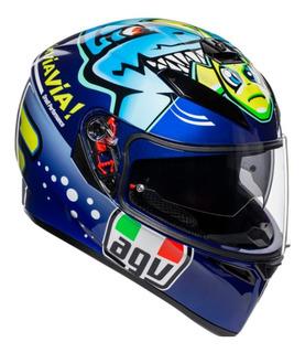 Casco Cerrado Agv K-3 Sv Top Rossi Misano 2015 Rider One