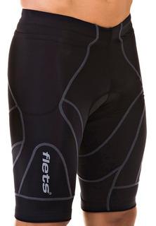 Bermuda Ciclismo X3x Flets De Compressão Masculina Black