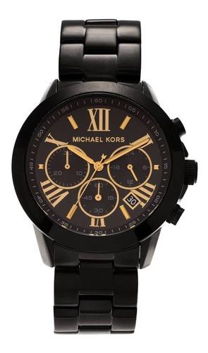 Relógio Michael Kors Mk6302 Brecken Orig Chron Anal Black