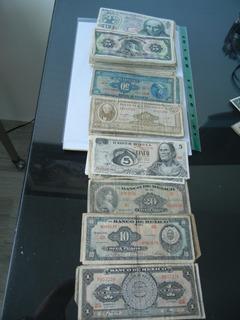 154 Billetes $ 100, 50, 10, 5 Y 1. Años 50- 60 Y 70s