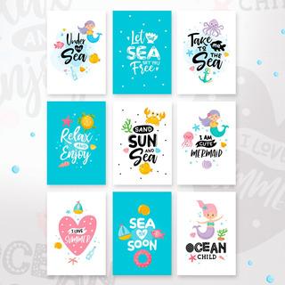 Peces Del Oceano Mar- Animales - Imprimir Sublimar Infantil