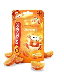 Redoxitos Gomitas Con Vitamina C Sabor Frutilla Y Naranja