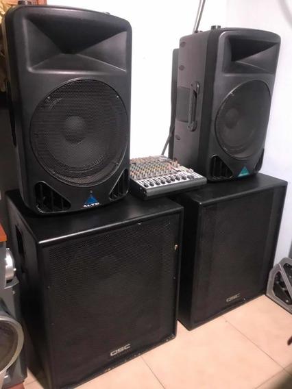 Equipo De Sonido Profesional Amplificado