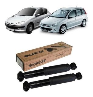 Par Amortecedor Traseiro Peugeot 206 207 1.0 1.4 1.6 Monroe