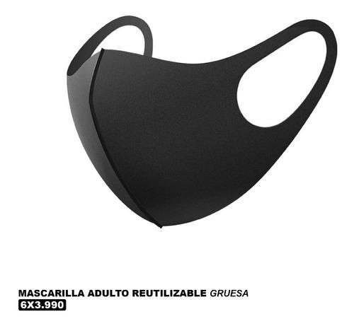 Pack 6 - Mascarilla Reutilizable Negra Lavable - Gruesa