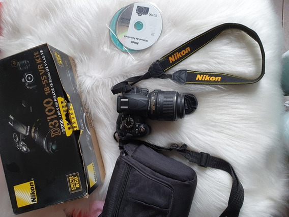 Câmera Nikon D3100+case+carregador+manual Sem Card Memória