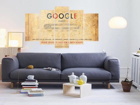 Quadro Mosaico Google 5 Peças Mdf 6mm Mod319