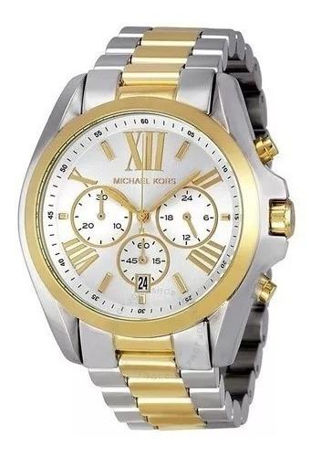 Relógio Feminino Mk5627 Bradshaw Misto Dourado Original Top