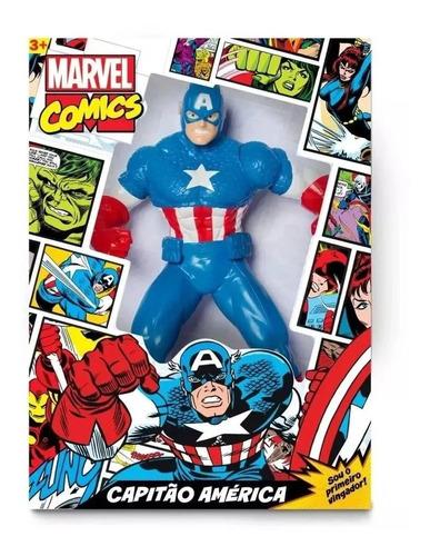 Imagem 1 de 1 de Boneco Capitão América 45 Cm Comics Mimo