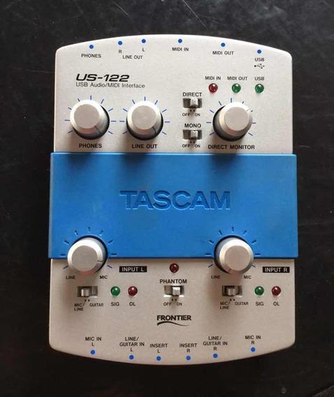 Interface De Audio 2 Canais - Usb X Midi - Tascam Us-122