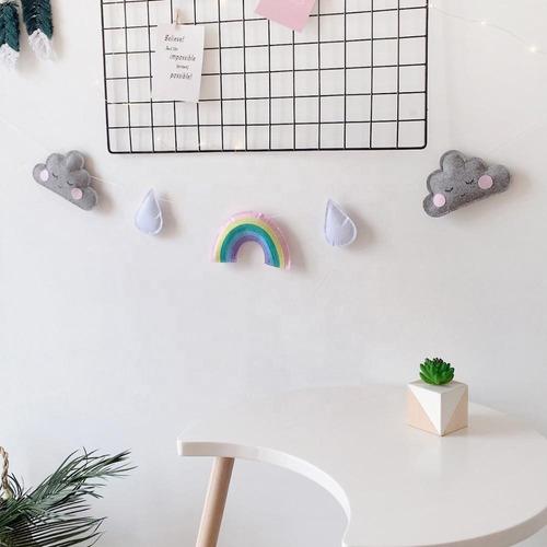 Guirnaldas Decorativas Cuarto Bebé Nubes,arcoiris-babyshower