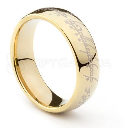 Anel Aliança- Sr Dos Anéis - Folheado A Ouro Aro 28 Ao 36