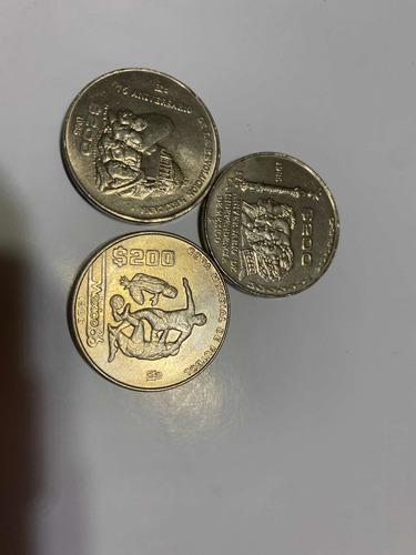 Imagen 1 de 5 de Monedas Conmemorativas  1985 Y 1986  200 Pesos