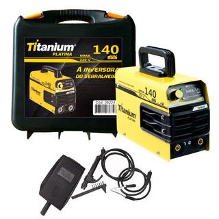 Máquina Inversora De Solda 140a Eletro C/ Mal. Titanium 220v