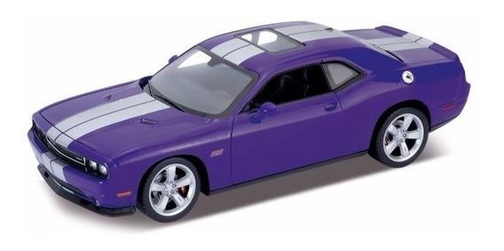 Dodge Challenger Srt Escala 1:24 Welly Azul