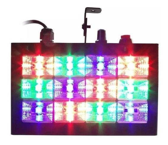 Strobo Rítmico 12 Leds Coloridos Dj Iluminação Festa Balada