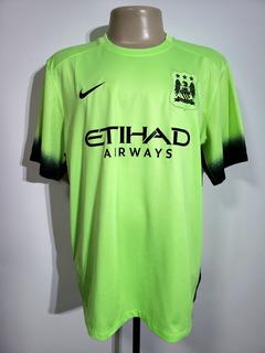 Camisa Futebol Manchester City Inglaterra 2015 Third Nike Gg