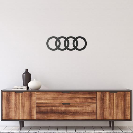 Quadro Decorativo Parede Veículos Audi Logo 60cm