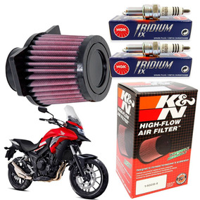 Filtro Ar K N Kn K&n + Velas De Iridium Cb 500x 500f 500r
