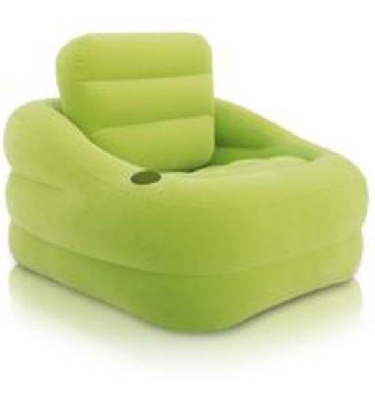 Sillón Inflable Estabilizado Verde 97 X 107 Cm 68586 Intex