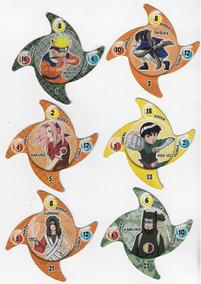 Lote Com 6 Tazos Diferentes Da Coleção Elma Chips Naruto