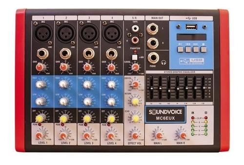 Mixer Analógico Mc6 Eux Compacta - Soundvoice