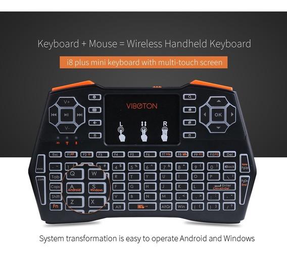 Viboton I8 Plus 2.4ghz Mini Teclado Sem Fio Air Mouse Preto