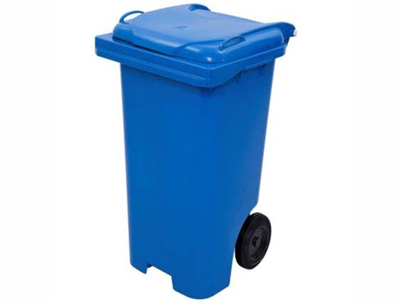 Coletor De Lixo 240litros Azul C240az- Bralimpia Bralimpia