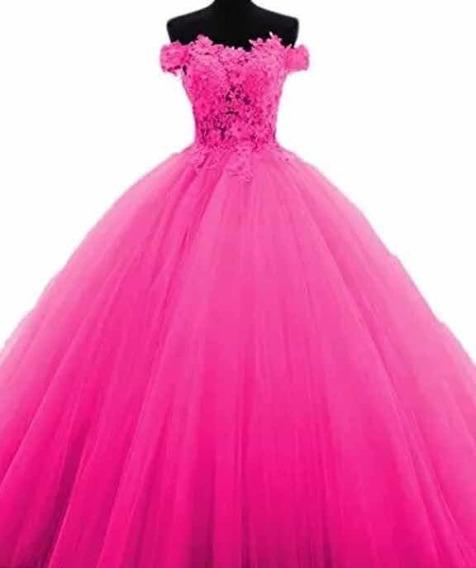 Vestido Debutantes Pink