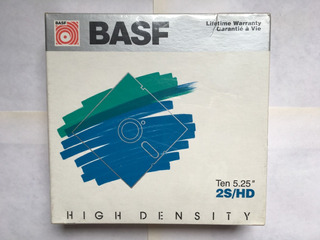 Basf Diskettes 5.25 X 10 Nuevo