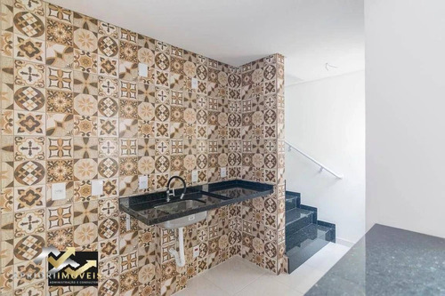 Cobertura Com 2 Dormitórios À Venda, 100 M² Por R$ 361.000,00 - Parque Novo Oratório - Santo André/sp - Co0995