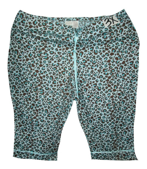Pijama Capri Azul Animal Print Talla 3x 42/44 Secret Trasur