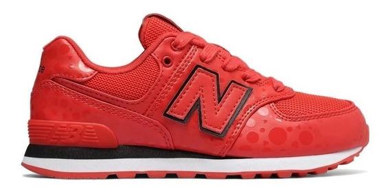 New Balance Zapatilla Lifestyle Mujer-niña Gc574m1 Rojo/blan