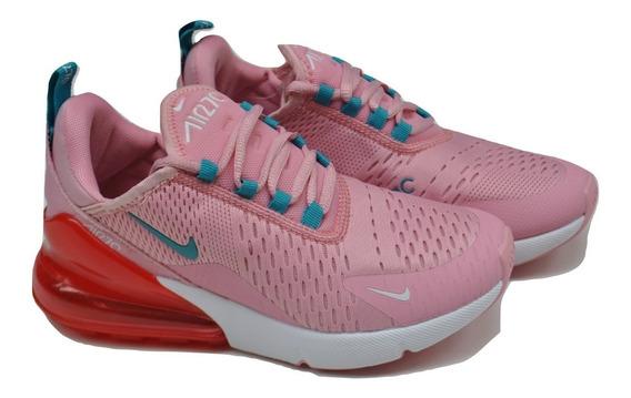 Kp3 Zapatos Damas Nike Air Max 270 Rosa Rojo