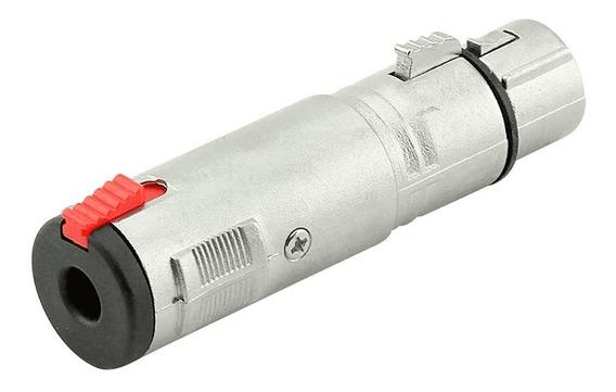 Adaptador Xlr Fêmea Para P10 Fêmea Chipsce